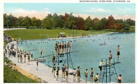 Postcard of Byrd Park, ca. 1920s