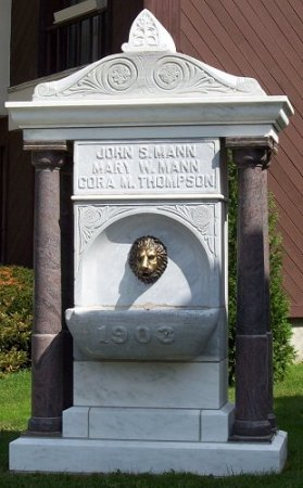 A temperance fountain in Coudersport, PA